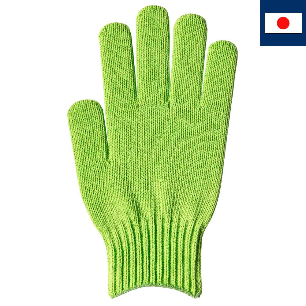 綿100%カラー軍手 ライムグリーン(受注生産)