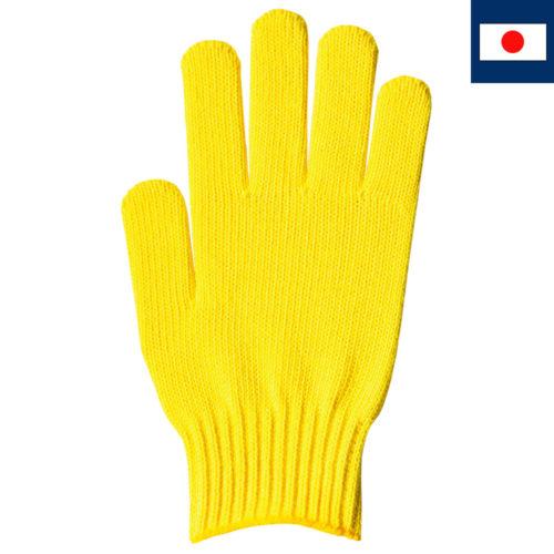 綿100%カラー軍手 レモンイエロー 7ゲージ編み(受注生産)