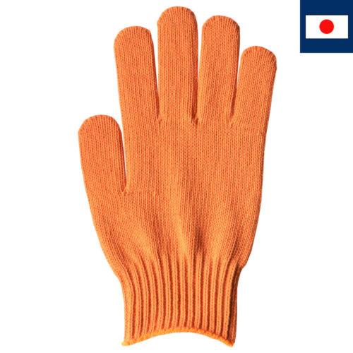 綿100%カラー軍手 オレンジ 7ゲージ編み(受注生産)