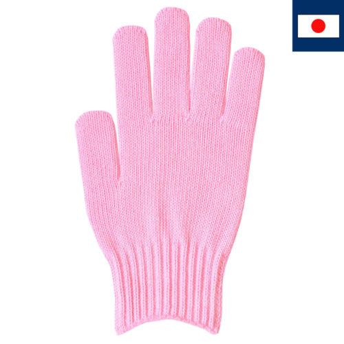 綿100%カラー軍手 ピンク 7ゲージ編み(受注生産)