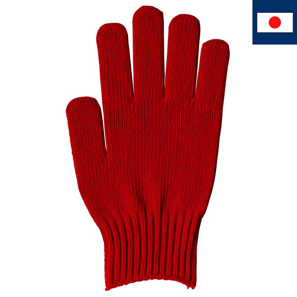 綿100%カラー軍手 赤(受注生産)