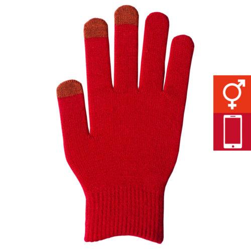 スマートカラー手袋 赤(男女兼用)