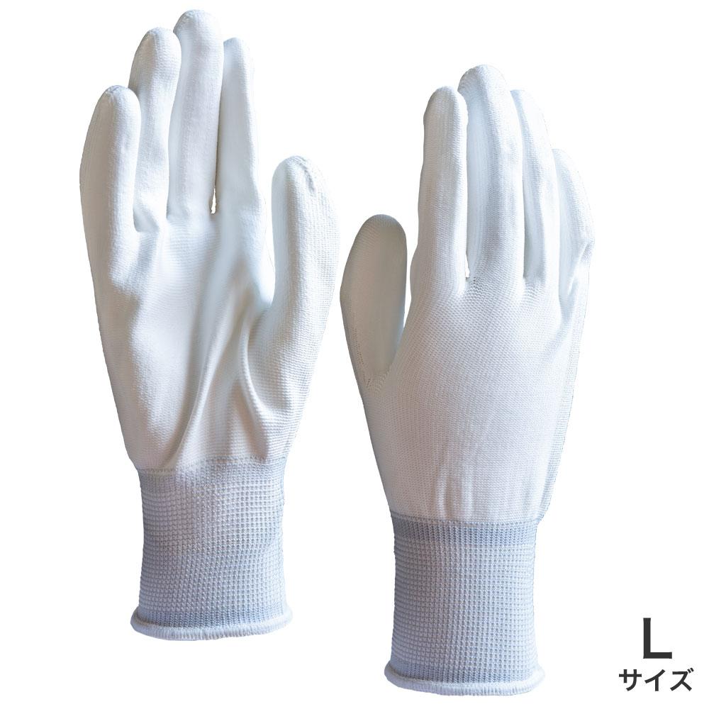 ウレタン背抜き手袋 白