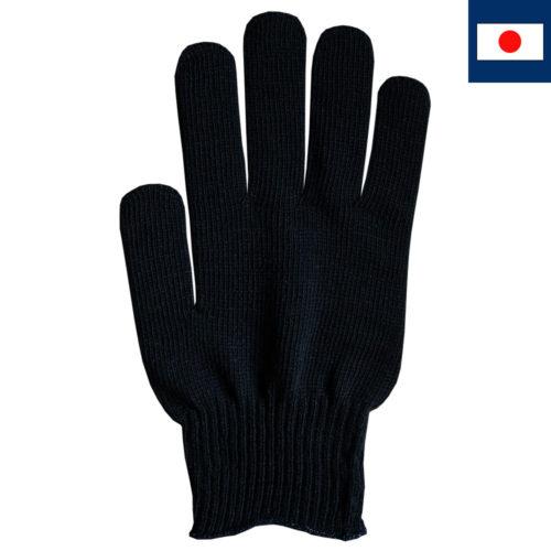 ビビッドカラー手袋 黒