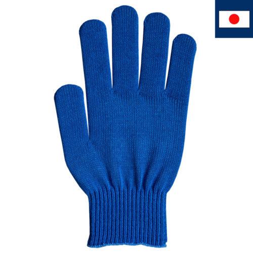 ビビッドカラー手袋 青