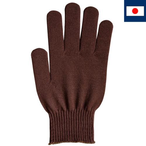 ビビッドカラー手袋 茶