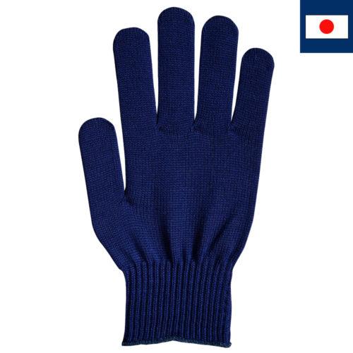 ビビッドカラー手袋 紺