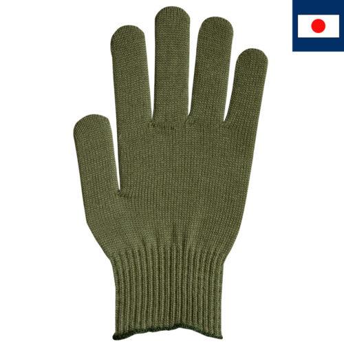 ビビッドカラー手袋 オリーブ