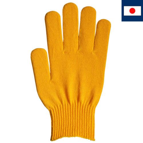 ビビッドカラー手袋 黄