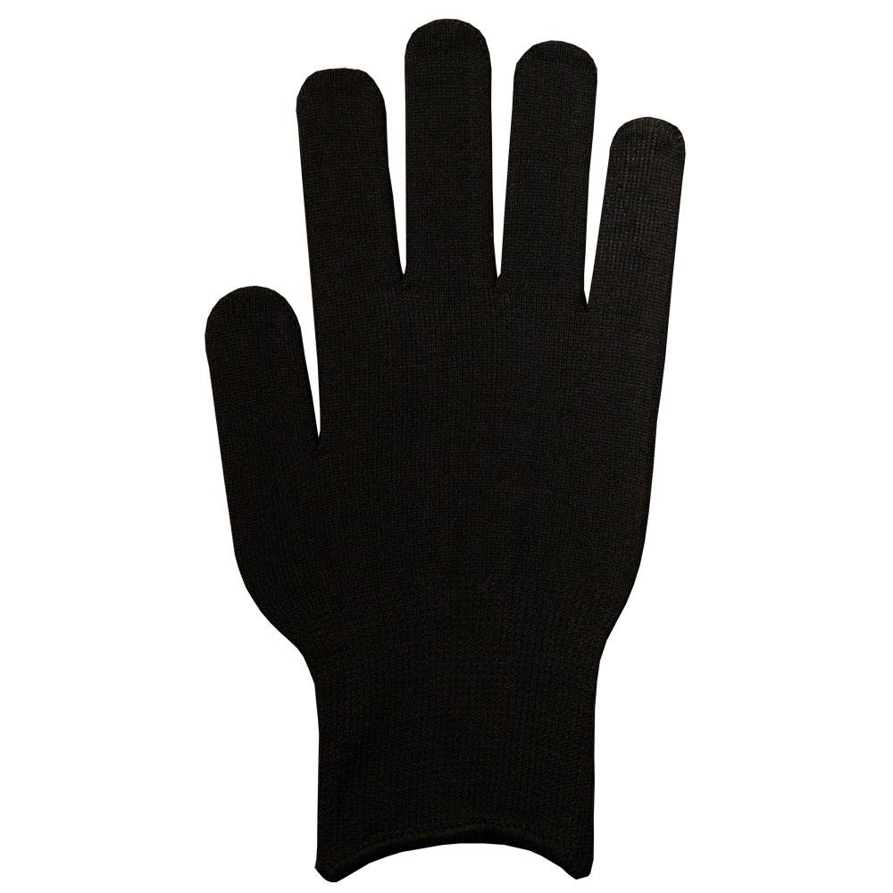 フィットカラー手袋 黒 (男女兼用)