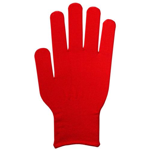 フィットカラー手袋 赤 (男女兼用)