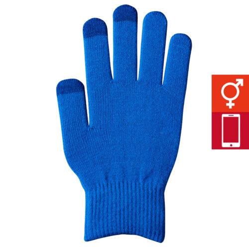 スマートカラー手袋 青(男女兼用)