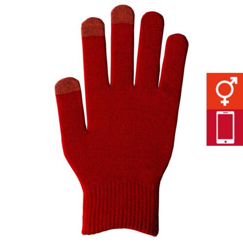 スマートカラー手袋 ワイン(男女兼用)