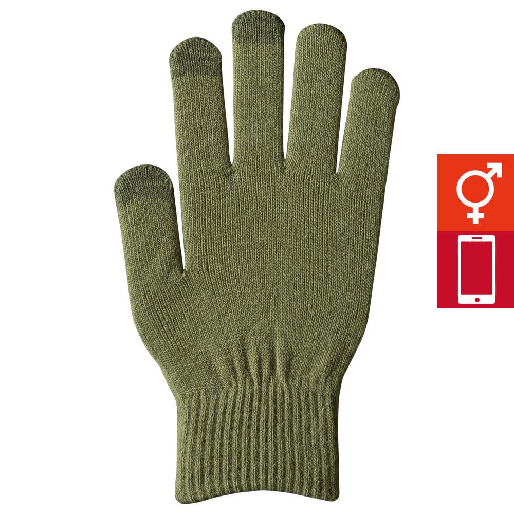 スマートカラー手袋 オリーブ(男女兼用)